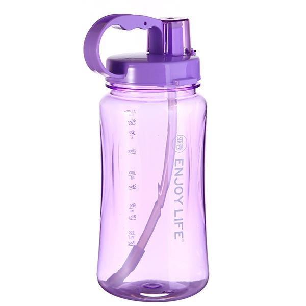1.5L军用水壶运动便携水杯吸管水壶大容量旅行塑料太空杯