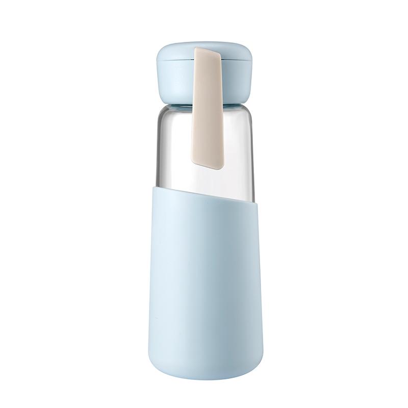 400ML艾利森玻璃杯硅胶套防烫男女学生便携杯子