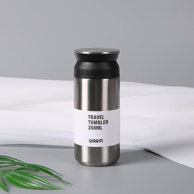 350ML创意简约纯色咖啡保温杯便携304不锈钢杯子