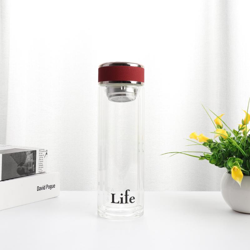 300ML雅阁商务双层玻璃杯男士泡茶杯子礼品定制水杯