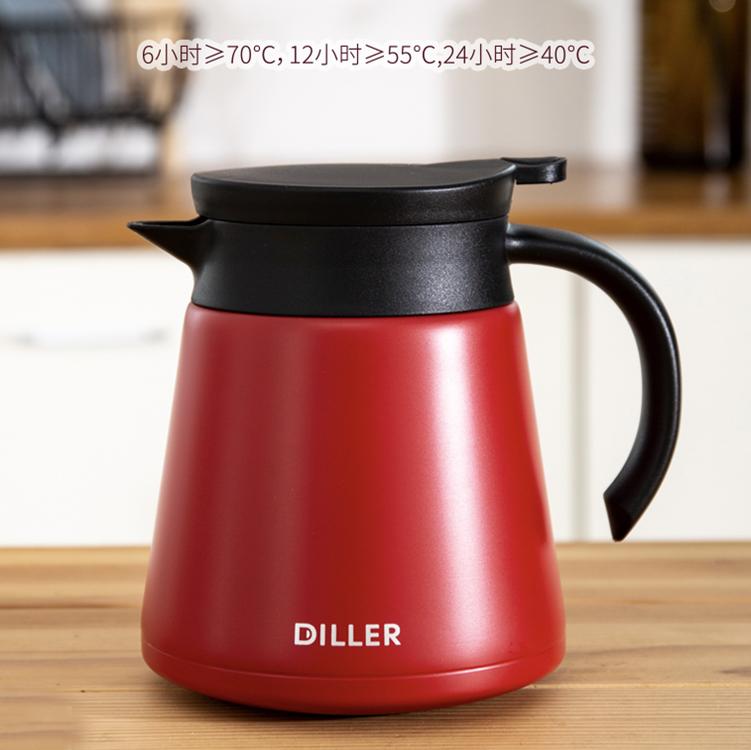 1L新款大容量休闲真空保温壶304不锈钢家用热水壶