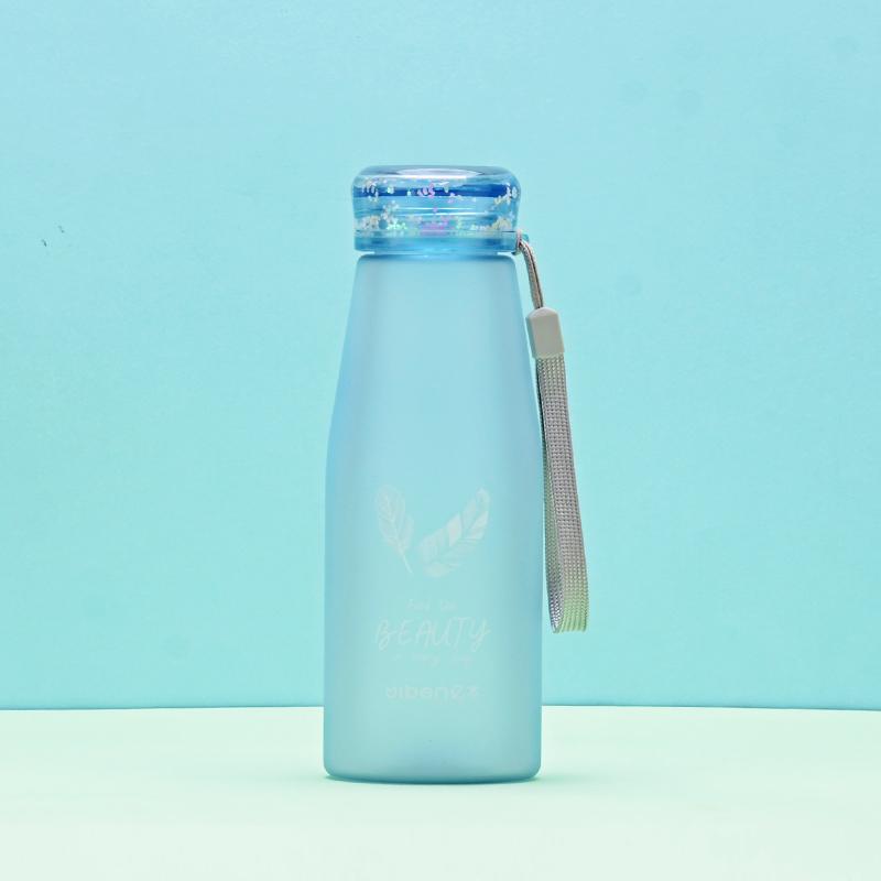 430ML亿本创意零星杯盖太空杯小清新塑料杯便携水杯