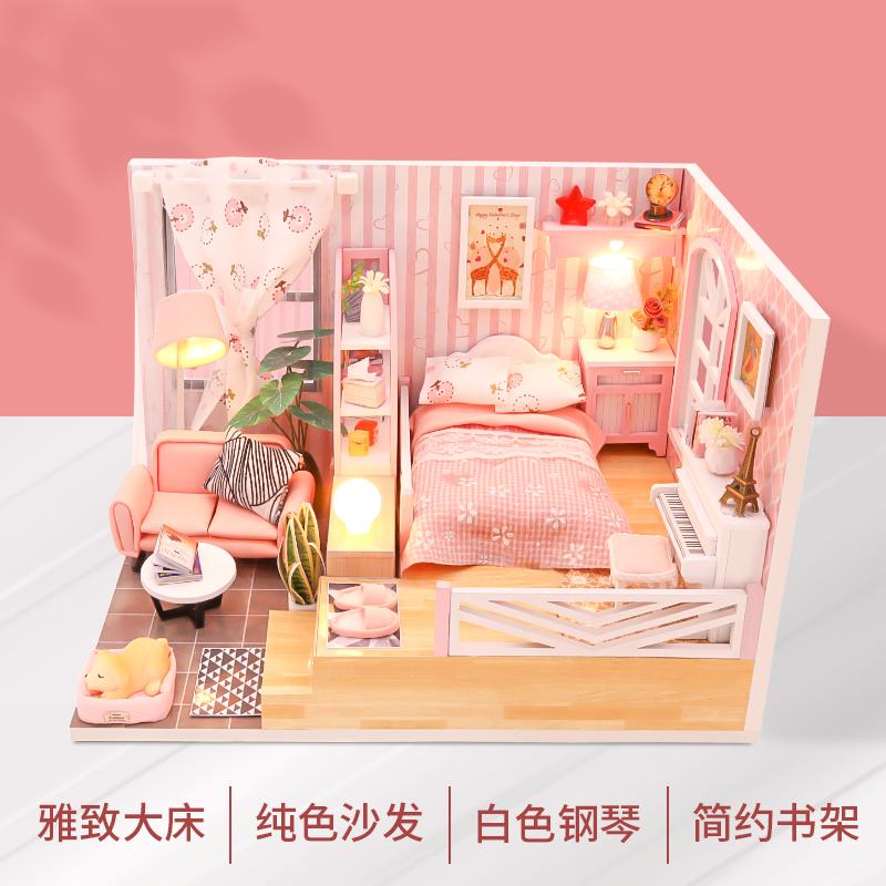 迷你场景-四季如歌DIY小屋手工制作拼装小房子创意礼物