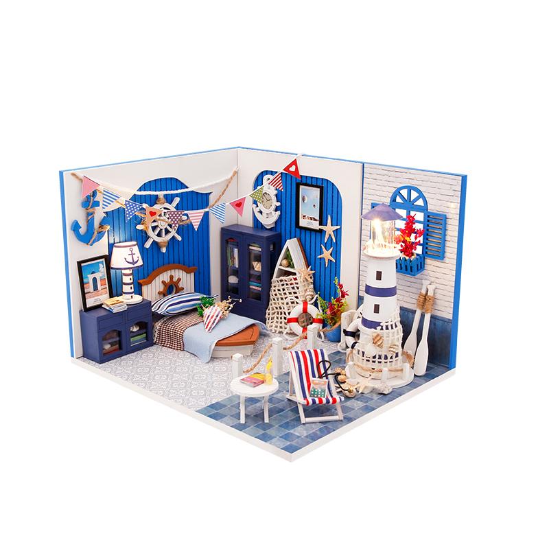 迷你场景-海之梦手工制作diy小屋模型房子创意生日礼物