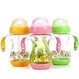 320ml宝宝儿童吸管学饮杯 带手柄水杯水壶【混装】