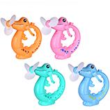 韩国创意鳄鱼手摇喷水风扇小动物造型卡通儿童手压风扇