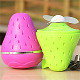 创意草莓充电风扇usb迷你便携学生小风扇超强风力环保风扇