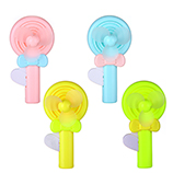 棒棒糖手压小风扇创意糖果色风扇学生户外便携手持风扇
