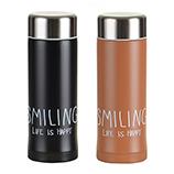 240ML创意微笑不锈钢真空保温杯 双层广口商务随手杯