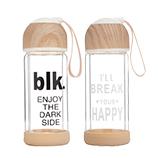 280ML创意木纹时尚男生女生双层运动办公商务玻璃杯