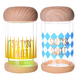 230ML几何创意木纹双层玻璃杯