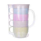 麦香杯套装茶语麦香杯 秸秆水杯健康创意休闲学生情侣随手杯