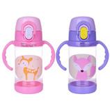 400ML宝宝吸管杯儿童水杯防漏学饮杯带把水壶