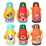 620ML熊本士一杯两盖316不锈钢儿童保温壶背带吸管水杯