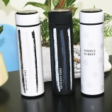 350ML黑白条纹保温杯 时尚商务水杯 带不锈钢茶漏