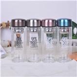 260ML品悦商务双层玻璃杯创意礼品办公室水杯子