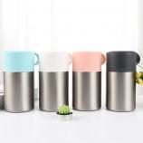 600ML创意不锈钢真空焖烧杯手提便携保温饭盒焖烧壶