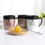 330ML创意咖啡办公保温杯带手柄304不锈钢商务杯子