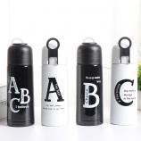350ML时尚字母保温杯子弹头不锈钢水杯运动水杯