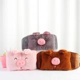创意可爱笑脸猪腰带充电热水袋已注水可拆洗防爆电暖宝