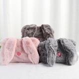卡通毛绒长耳兔热水袋已注水充电双插手电暖袋暖手宝