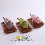 卡通韩版立体鳄鱼热水袋充电暖水袋毛绒可拆洗暖手宝