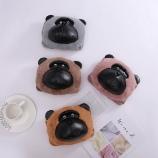 创意圆脸猩猩热水袋毛绒可拆洗电暖宝双插手充电暖手宝