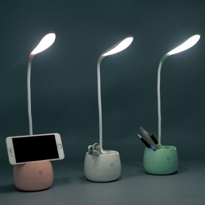 1011创意手机支架带笔筒收纳盒触摸感应台灯床头灯