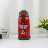 500ML二代儿童保温壶-猴子一杯两盖不锈钢吸管保温杯