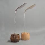 1011B创意树叶笔筒触感台灯三档调光护眼灯