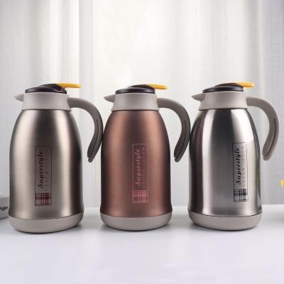 1800ML大容量304不锈钢保温壶真空双层车载咖啡壶