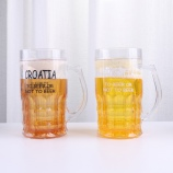 650MLCROATIA啤酒冰杯大号创意整人恶搞塑料水杯