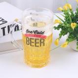 400MLBEER英文字母啤酒冰杯小号恶搞加夹层水杯