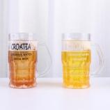 450MLCROATIA啤酒冰杯小号创意整人恶搞塑料水杯