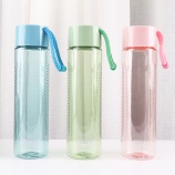 500ML亚奇提绳随手杯炫彩水杯户外运动旅行塑料杯子