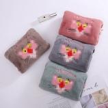 方形粉豹热水袋