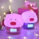 卡通萌动物唤醒灯可遥控七彩变色小夜灯-猪