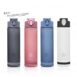 850ML创意环保Tirtan吸管磨砂塑料杯运动旅行便携太空杯