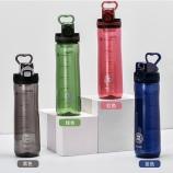 600ML透明运动塑料杯防漏便携tritan弹跳杯太空杯