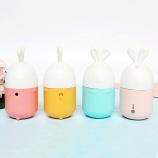 新款韩版胶囊卡通兔迷你风扇USB充电便携式口袋风扇