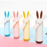 可爱兔子手持小风扇USB充电学生便携式迷你风扇