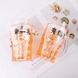 400ML潮流中文系列啤酒冰杯搞怪假夹层冰镇扎啤杯