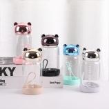 320ML卡通维尼熊玻璃杯学生小清新便携手提杯子