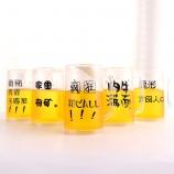 400ML流行语系列啤酒冰杯搞怪假夹层冰镇扎啤杯