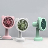 可爱萌熊喷雾风扇卧室办公室桌面补水加湿充电风扇