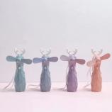 卡通钻石小鹿喷水风扇学生可爱迷你手持充电小风扇