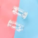 320ML韩版冰之樱单层玻璃杯学生可爱迷你便携喝水杯子