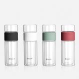 380ML茶水分离双层玻璃杯耐高温防烫高硼硅办公茶杯