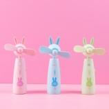 卡通兔子点头喷水风扇可爱便携造型手拿风扇
