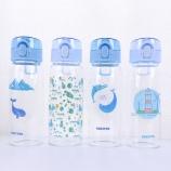 480ML韩版海洋弹盖玻璃杯学生小清新单层透明喝水杯子